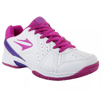 Zapatillas Topper Tenis Lady Rookie Mujer Blanco C/violeta