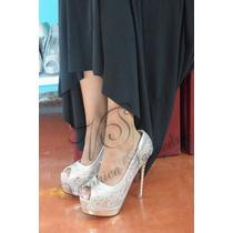 Zapatos Mujer Dorado Fiestas Egresadas