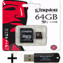 Memoria Microsd 64gb Kingston Celular Cam + Pendrive Regalo!