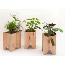Macetas y maceteros macetas madera rectangulares con los for Macetas rectangulares grandes