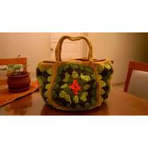 Bolso Tejido A Mano Crochet Varios Colores