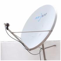 Antena Satelital Completa 90cm + Lnb + Soporte Envios