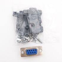 Conector Ficha Db-9 (db9) Hembra 9 Pin Con Tapa Plastica