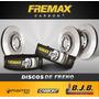 Kit 2 Disco Freno Fremax Trasero Honda Accord 85-91 Sólido