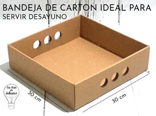 21babe7f9 Bandeja Cartón Desayunos 30x30x6 X 100 Unid - Envio Incluid