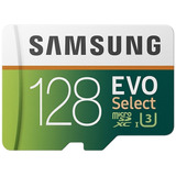 Micro Sd Samsung Evo Select 128gb 100mb/s U3 - 1520 Vendidos
