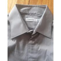 Camisa De Vestir Calvin Klein Talle 17 1/2 Manga 32/33
