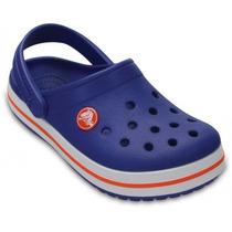 Zueco Crocs Crocband Infantil Azul Naranja (consultar Stock)