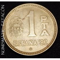 Moneda España 1 Peseta 1980 (81) - Mundial 1982 - Excelente