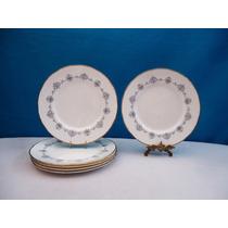 Juego 6 Platos Llanos Porcelana Inglesa Royal Worcester