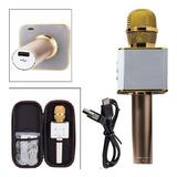 Micrófono Karaoke Bluetooth Parlante Q7 Con Estuche