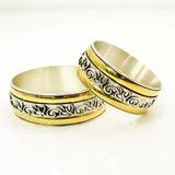 Alianzas Casamiento Plata 925 Y Oro Anillos De Compromiso