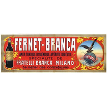 Carteles Antiguos Chapa Gruesa 38x18cm Fernet Branca Dr-068