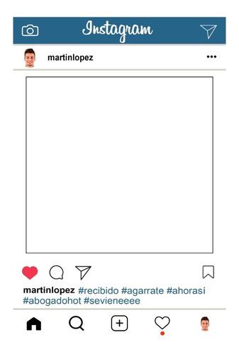 Cartel Cuadro Marco Instagram Imprimible Personalizado