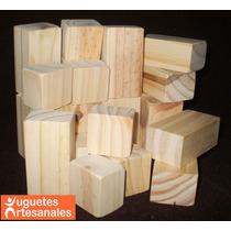 Cubos Didácticos Artesanales De Madera X24 Piezas
