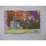 8001- Entrada Soda  Stereo Platea Usada Año 1997 River Plate
