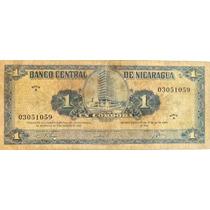 Billete De Nicaragua - 1 Cordoba - 1962 - En Mendoza