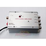 Amplificador De Señal 30db Uhf/vhf/fm Antena/cable 4 Salidas