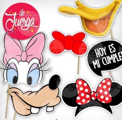 Photo Booth Disney Imprimible Donald Goofy Pluto Daisy Micke - $ 20 ...