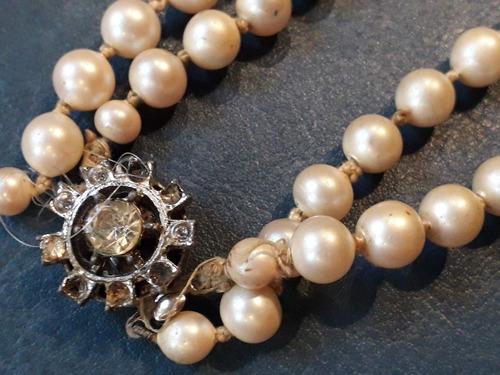 c18128344b50 Antiguo Collar Perla Tipo Majorica 70 Cm 7 Mm Diametro