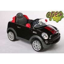 Auto Mini Cooper Niños Bateria+c.remoto+luz+mp3+fm Open-t114