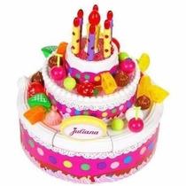 Torta De Cumpleaños Juliana Bilingue Con Luz Y Sonido Tv