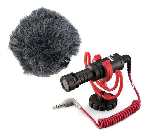 Micrófono Con Accesorios Rode Videomicro Condensador Black