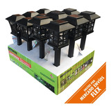 Farol Luz Led C/panel Solar Recargable Para Jardin (x12un)