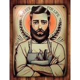 Barbería Chapa Cartel Vintage 20x30