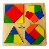 Juego Didáctico Madera Piezas Geometricas Encastre Colores