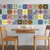 Vinilos Decorativos Pack 16 Azulejos 15x15 Cocina Heladera