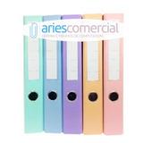 Bibliorato A4 Lomo Angosto Color Pastel Reforzado X Unidad