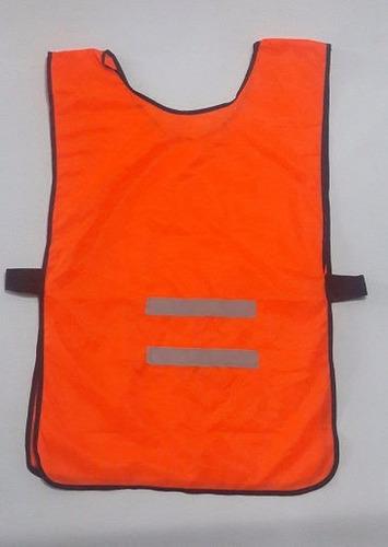Poncho Vial Naranja Fluo Reflectivo Tela Aireada Man900na