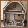 Casa Con Muebles Para Muñecas Barbie En Mdf Laser