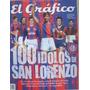 Revista El Grafico 100 Idolos De San Lorenzo