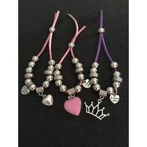 Souvenirs Para Nenas. Pulseras, Variedad De Colores Y Diseño