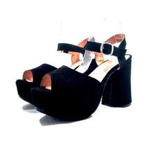 Stilettos Sam123 Cuotas Cuero Talles Grandes Tacon Sandy Neg