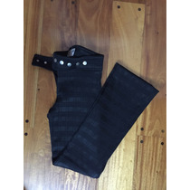 Pantalón Negro Elastizado Para Dama Marca Mab Con Tachas