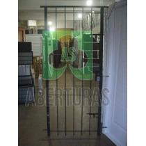 Aberturas: Puerta Reja De Hierro Redondo Del 12. 2 Pasadores