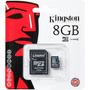 Memoria Microsd Sd 8gb Kingston Clase 4 Tienda Oficial