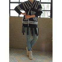 Sweater Cardigan Saco Poncho Última Moda