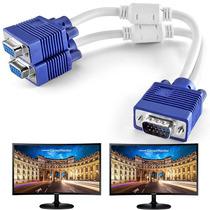 Cable Splitter Vga Macho A 2 Vga Hembra Duplica Monitores !