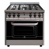 Cocina Morelli Country Forza 900 5 Hornallas  A Gas/eléctrica Plateada 220v Puerta Visor