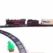 Tren Fenfa Completo 325 Cm De Vías Locomotora + 4 Vagones