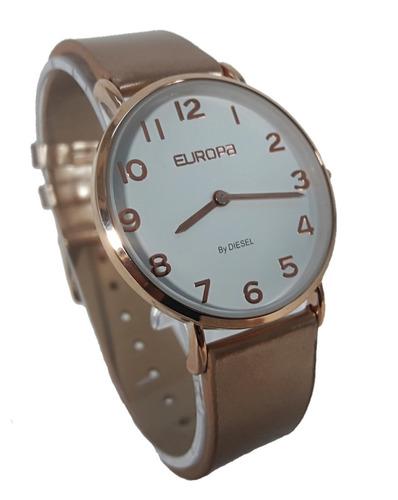 f59e598cb6c6 Reloj Europa By Diesel 4000 212 Mujer Malla Cuero Original