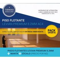 Piso Flotante Ac4 8.2mm + Manta + Zocalo - Envio Gratis!