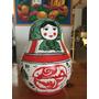 Mamuschka De Ceramica Grande Pintada A Mano