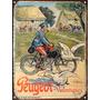 Cartel Chapa Publicidad Antigua Bicicleta Peugeot No Vinilo