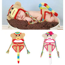 Gorro De Mono Tejida A Crochet Y Otros Animales