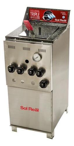 Freidora  Industrial Sol Real 043 Triple Inyección Plata